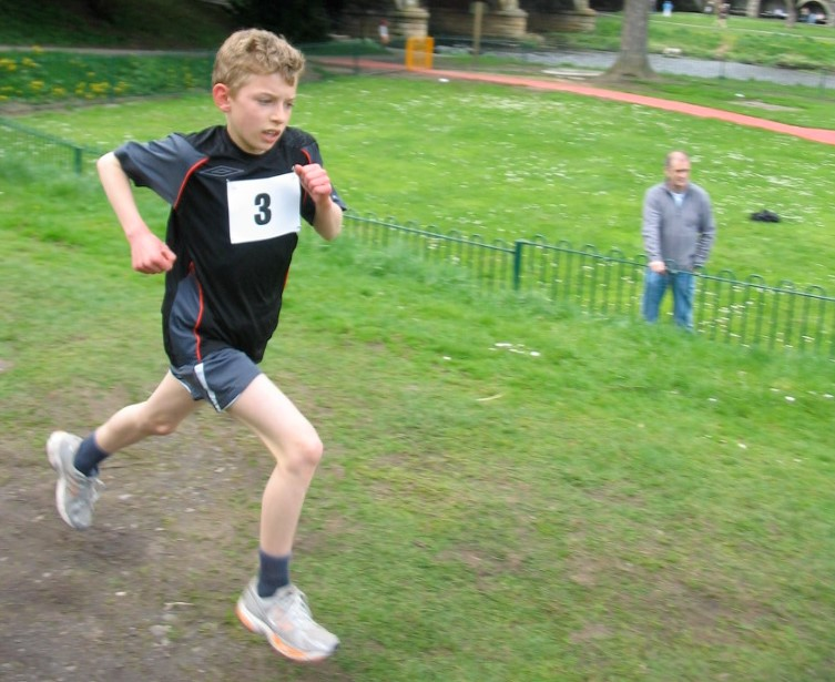 Jacob at local 3 Bridges Race 2